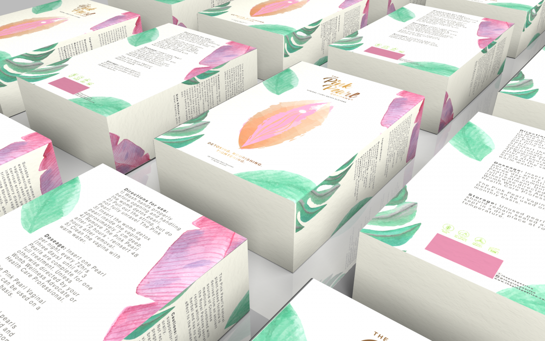 Pink Pearl Company Packaging Design